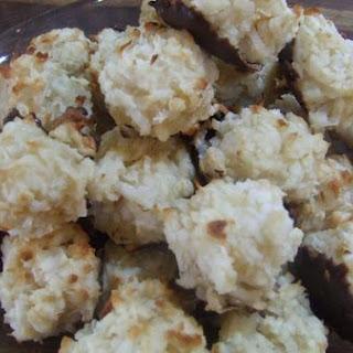 Gluten Free Macaroons Dipped In Dairy Free Chocolate Ganache