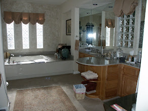 Photo: Master Bath, with our stuff