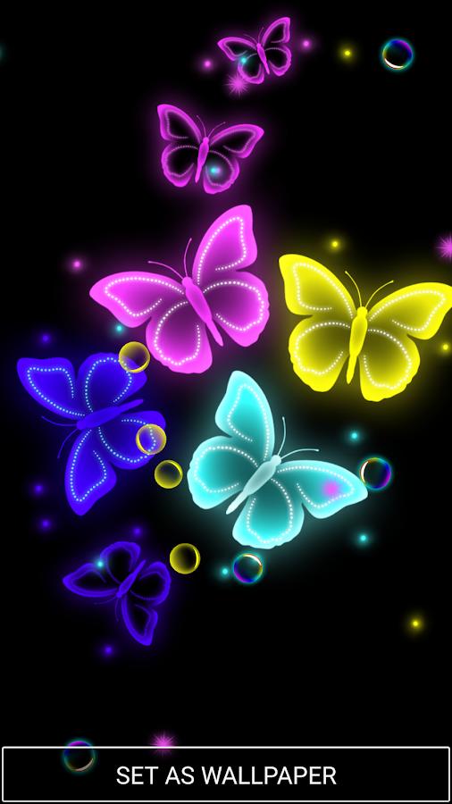 3d Rose Wallpaper Apps Neon Fondos Mariposas Animados Aplicaciones De Android