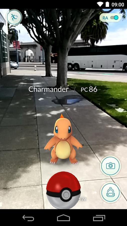 Pokémon GO: captura de pantalla
