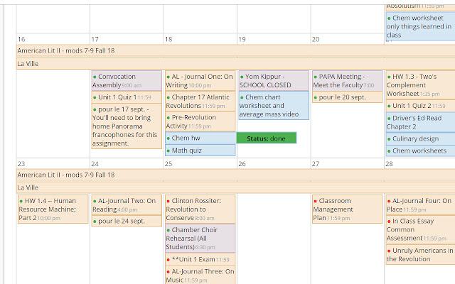 BCA Schoology Calendar+