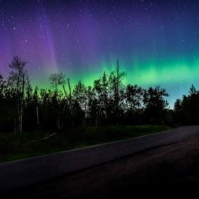 Northern Pillars by Glen Sande - Landscapes Starscapes ( mn, duluth, brighton beach, northern lights, aurora borealis, aurora,  )