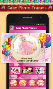 Happy Birthday Cake: Name and Photo On Cake - náhled