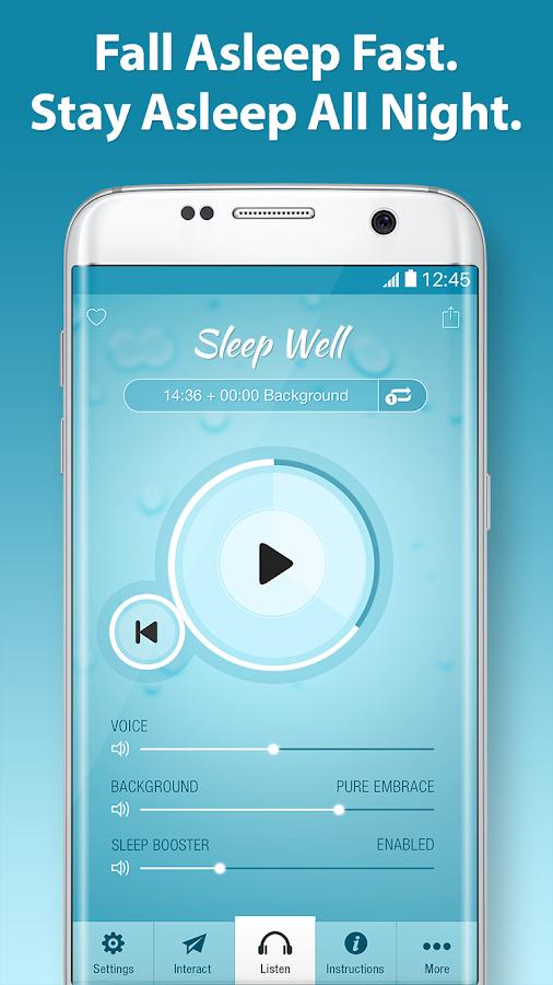 Sleep well hypnosis insomnia sleeping sounds android apps on sleep well hypnosis insomnia sleeping sounds screenshot ccuart Images