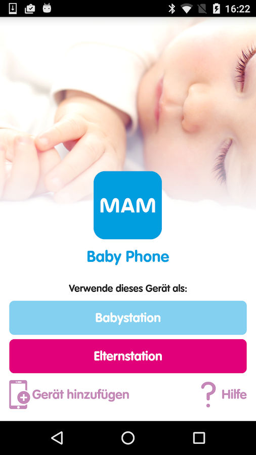 MAM Baby Phone – Screenshot