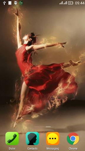 Ballerina on fire LWP