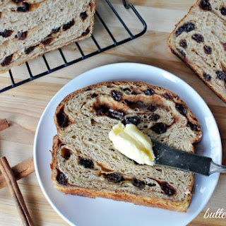 Cinnamon Raisin Sourdough Bread -Sweetened With A Maple Syrup Swirl.