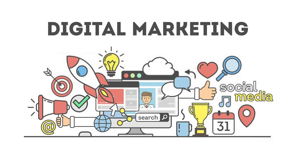 ilustrasi vektor digital marketing