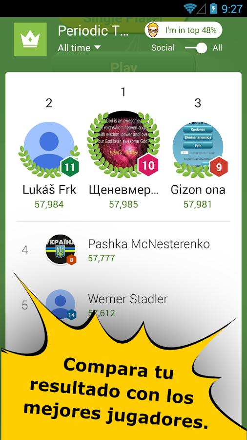 Quiz de la tabla peridica aplicaciones de android en google play quiz de la tabla peridica captura de pantalla urtaz Gallery