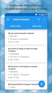 OnSite Checklist - Quality & Safety Inspector Screenshot