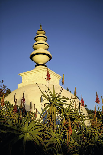 The stupa at the Buddhist Retreat Centre.