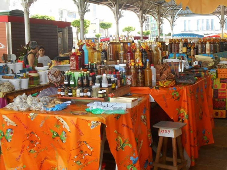 A market we visited in Guadeloupe.