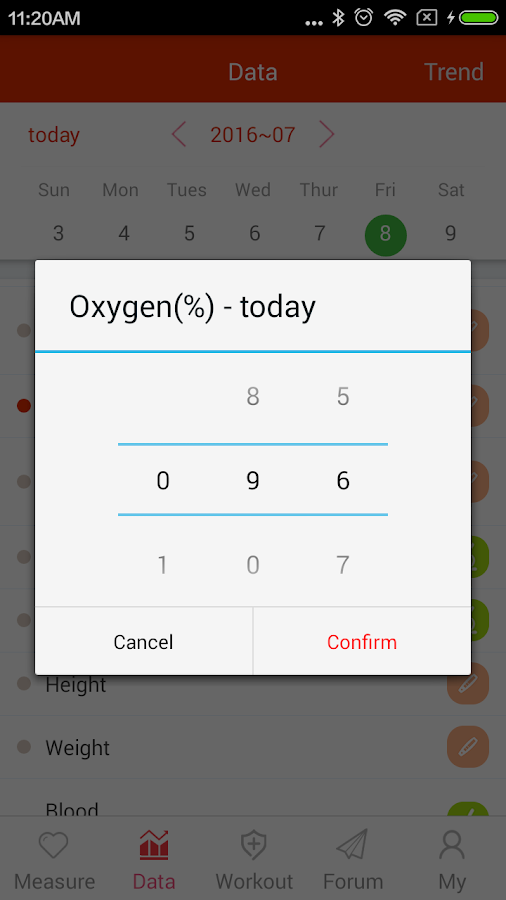 iCare Oxygen Monitor- screenshot