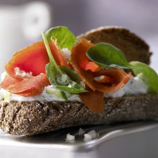 Smoked Salmon on Whole Wheat.