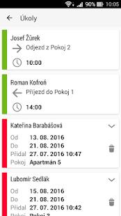 Kalendář rezervace ubytování - Penzion, Apartmány - náhled