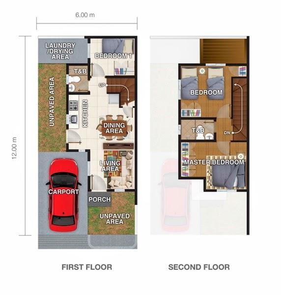Eminenza 3 San Jose del Monte, Bulacan Single attached unit 1 floor plan