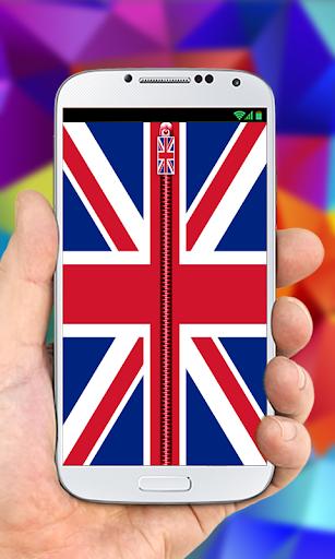 UK Flag Zipper LockScreen