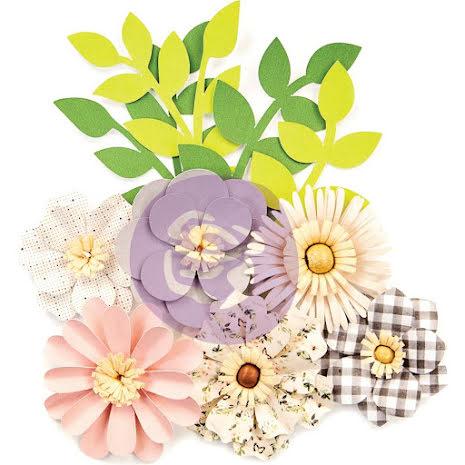 Prima Spring Farmhouse Paper Flowers 10/Pkg - Gather UTGÅENDE
