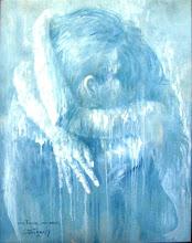 """Photo: Bruno steinbach. """"Transcendência dos Sentidos - o Céu de Aladiah"""". Acrílica/cartão, 95 x 75 cm, 1998, Mossoró, Rio Grande do Norte, Brasil. Da série """"Nômades Amantes do Tempo. Acervo do Artista.  """"A vida sorri quando anjos caídos se encontram e se fundem em um abraço de amor, como um coquetel de estrelas derretidas...""""  Bruno Steinbach. """"Transcendence of the Senses - Aladiah in the Heaven."""" Acrylic / board, 95 x 75 cm, 1998, Mossoró, Rio Grande do Norte, Brazil. From the series """"Nomads of Time Lovers. Collection of the Artist.  """"Life is wonderful when fallen angels meet and merging into a loving embrace as a cocktail of melted stars ...""""  Veja o vídeo: Watch the video: https://www.facebook.com/video/video.php?v=263374563690711&comments http://www.youtube.com/watch?v=gFaU2DQbku4 web site: http://www.brunosteinbach.blogspot.com/ http://brunosteinbach.wordpress.com/ http://www.facebook.com/brunosteinbachgalery/ Contato: Contact: mailto:brunosteinbachsilva@gmail.com"""