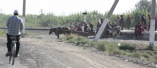 Photo: Day 162 - Lots of Activity Near a Small Station on the Road to Bukhara