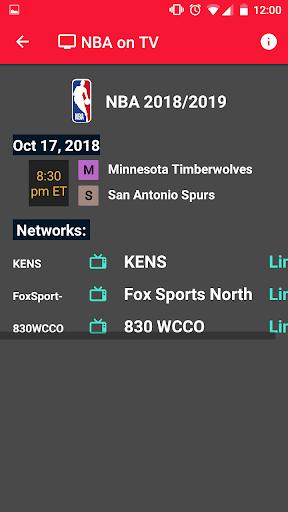 NBA Games Live on TV - Free 1.2 screenshots 4
