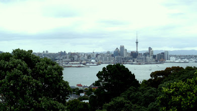 Photo: Fort Victoria was built in 1885 on the tallest volcanic cone in Devonport.  We hiked to the top for this beautiful view of Auckland.