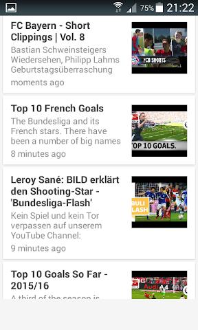 android Live Football Score Bundesliga Screenshot 2