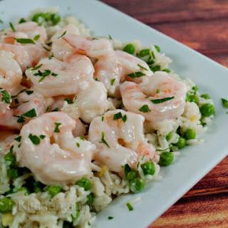Shrimp In Garlic Cream Sauce.
