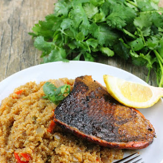 Sweet & Spicy Salmon Over Dirty Quinoa
