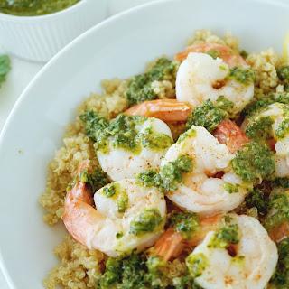 Chimichurri Shrimp With Quinoa.
