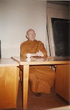 Photo: Ajahn Sumedho speaking on Dhamma in the philosophy classroom where I attended lectures on phenomenology and existentialism