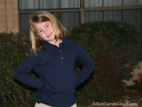 Photo: My daughter loved her shirt! Especially the flower shaped buttons.
