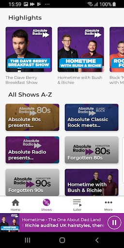Absolute Radio screenshot 3