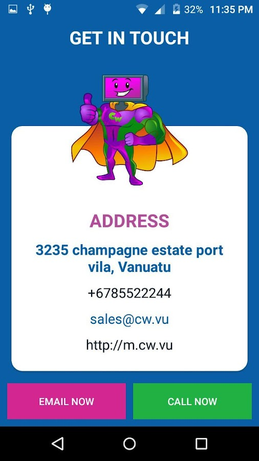 Computer world Vanuatu- screenshot