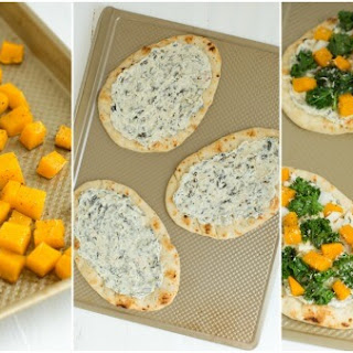 Roasted Butternut Squash, Kale and Spinach Flatbread