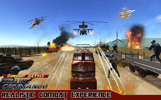Gunship Battle Train Commando