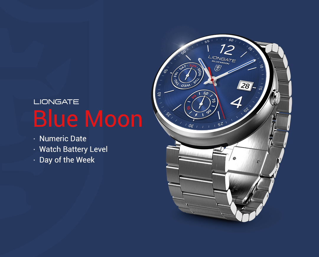 Blue Moon watchface by Liongate- screenshot