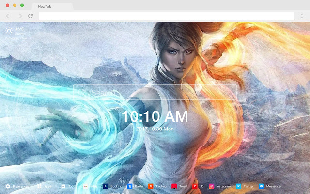 Fantasy new tab aesthetics HD wallpaper theme