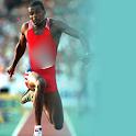 Athlétisme fond sur le terrain icon