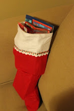 Photo: Phew! We did it! It all fit - and we have one really cool stocking for a fellow Cars fan!
