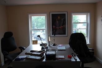 Photo: Jeffrey and Bryan's desks.