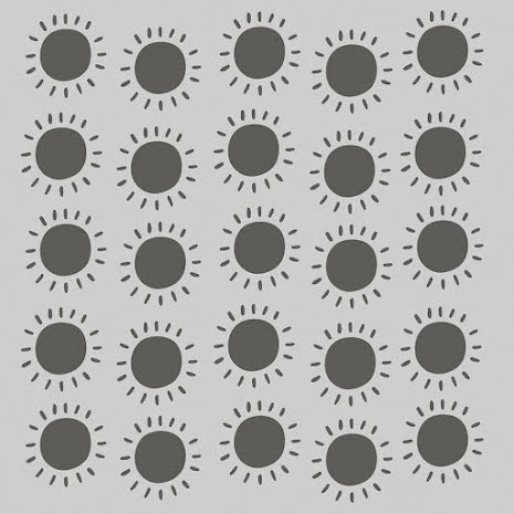 Simple Stories Sunkissed Stencil 6X6 - Sunshine