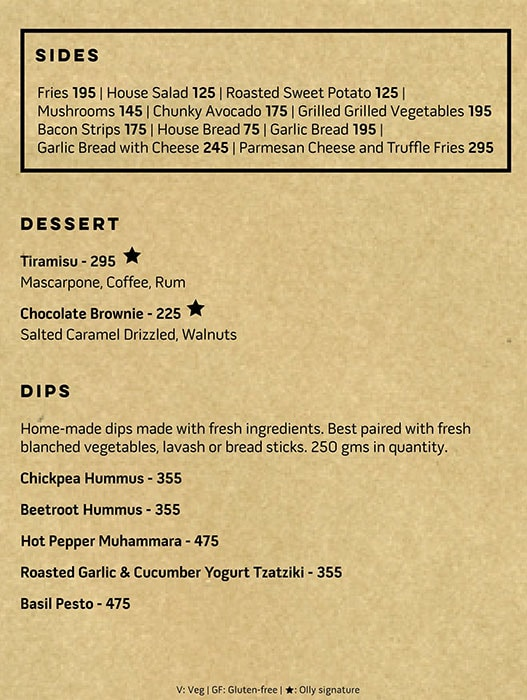OLLY-Olive's All Day Cafe menu 6