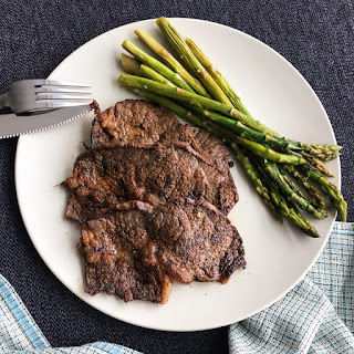 Black Pepper Steak and Asparagus