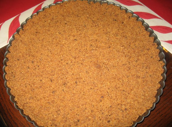 In a food processor blend the cookies.Add melted butter,mix well.Pour on tart pan with...