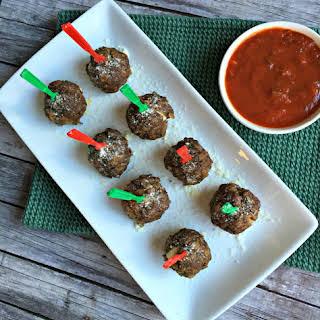 Mozzarella Stuffed Meatballs.