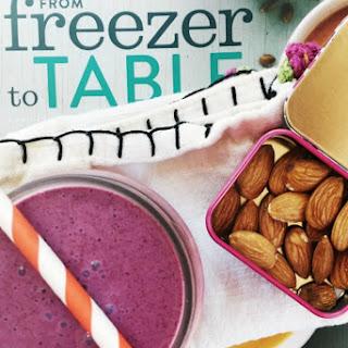 Wild Blueberry Smoothie with Pineapple, Cardamom, & Lavender Vanilla Sugar.