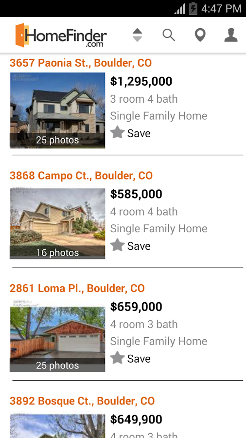 HomeFinder.com Real Estate- screenshot