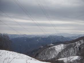中央の白山は雲の中