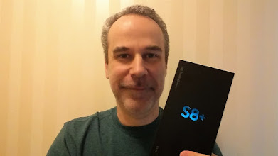 Photo: Sunday giveaway winner Stephen D. showing off his new Galaxy S8+.